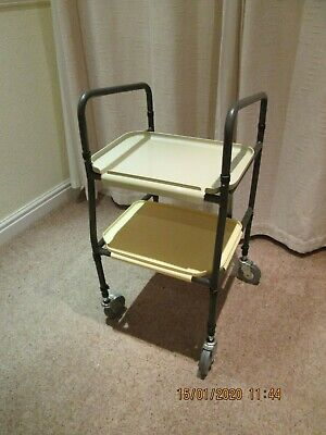 No 25 Height Adjustable Disabled Carer / Medicines Trolley Used