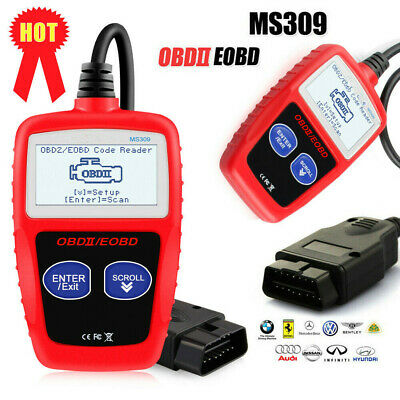 MS309 OBD2 Auto Diagnostic Tool OBDII Car Engine Fault Code Reader GH