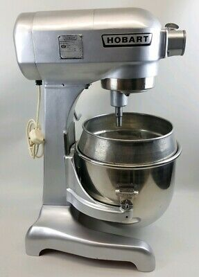 Commercial Hobart A120 Dough Mixer With Whisk, Hook & New Paddle + 20 Quart Bowl