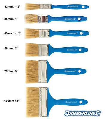 Silverline Disposable Paint Brushes All Sizes Multi Buy Decorating Wall Fence