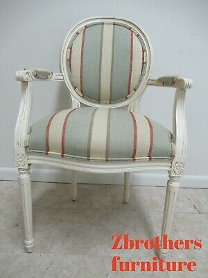 Ethan Allen Swedish Homes Painted Living Room Lounge Arm Chair French B