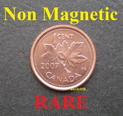 ☆ 2007 Penny NON magnetic * Scarce * - Brilliant Unc - Some spots of oxidation
