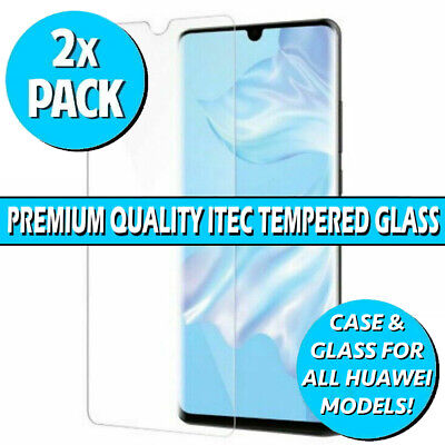 Gorilla Glass Screen Protector For Huawei P20 Pro Lite P Smart 19 P30 Gel Case