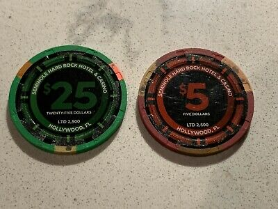 GUITAR HOTEL Hollywood Hard Rock Casino Grand Opening $25&$5 Set Chip LIMITED ED