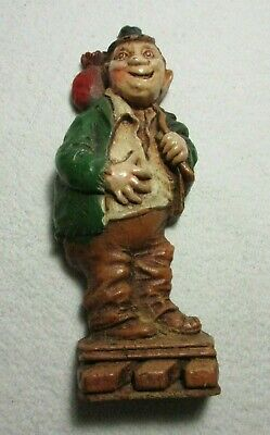Vintage Syroco Wood Hobo Bum Character Figure ~ Painted Colorful 6 1/2""