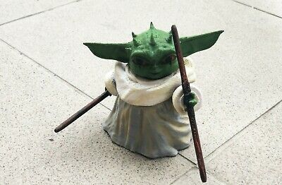 Unique BABY YODA Painted Toy Figure Statue Spacial The Mandalorian Collection