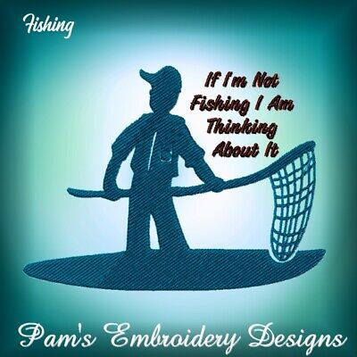 FISHING  11 MACHINE EMBROIDERY DESIGNS CD or USB