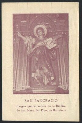 Estampa antigua de San Pancracio santino holy card image pieuse