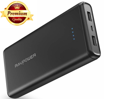 Portable Charger Power Bank Battery Dual iSmart 2.0USB Ports External Pack Black