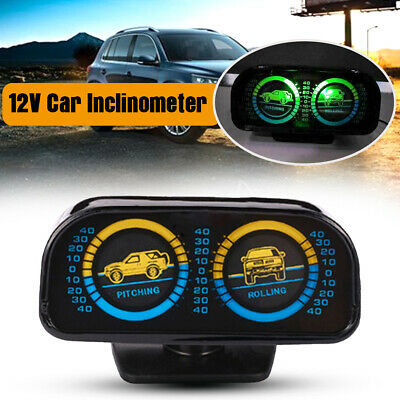 A860 Car Inclinometer Backlight 12V Slope Meter Auto Inclinometer Offroad