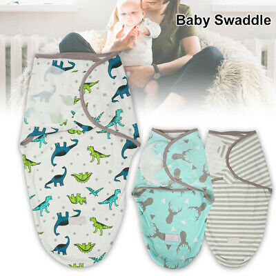 New Baby/Infant Summer Swaddle Me Blanket Wraps/Sleeping Bag 100% cotton 0-3mth