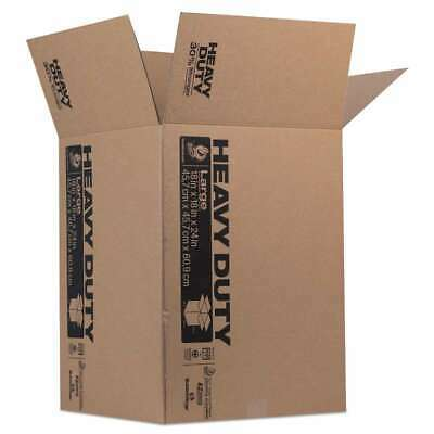 Duck® Heavy-Duty Moving/Storage Boxes, 18l x 18w x 24h, Brown 075353107874