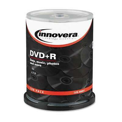 Innovera® DVD+R Discs, 4.7GB, 16x, Spindle, Silver, 100/Pack 686024468912