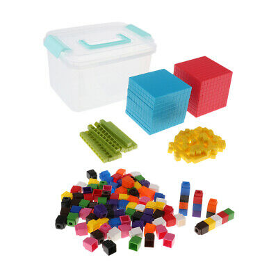 Educational Gifts Interlocking Math Link Cubes w/ Base Ten Set Learning Aids