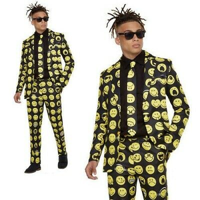 Stand Out Suit 1980s Festival Mens Fancy Dress Costume Adults 80s