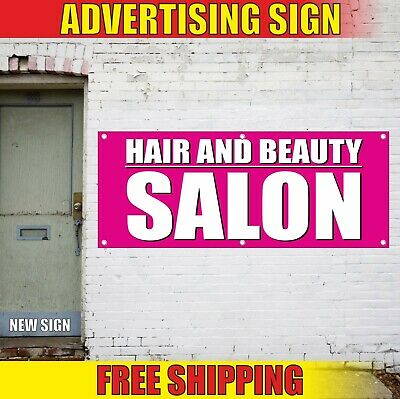 """/""""BEAUTY SALON/"""" super flag swooper nail wax hair style face shave cut color"""