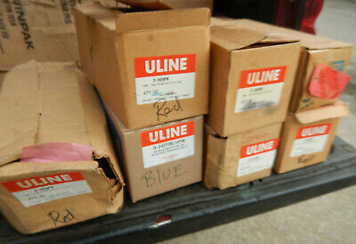 Several Boxes Of Uline And Other Red Gray Tags Rejected Accepted Some W/ Wires