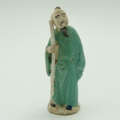 Antique Chinese Porcelain Figure Of A Scholar, Late 19Th Century