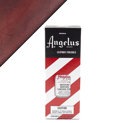 C--023 Angelus Permanent Leather Dye With Applicator 3Oz Med Brown