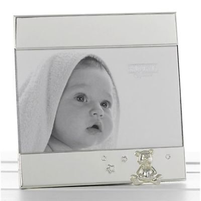 Baby Silver Plated Teddy Photo Frame New Baby Christening Gift
