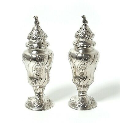 A pair of silver sugar shaker castor.  Germany (was imported to Sweden).