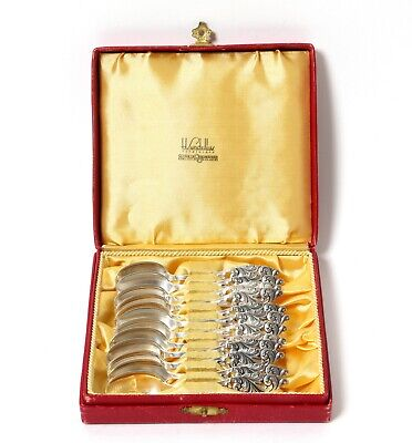 Silver coffee spoons, 12 pcs.  Norway (was imported to Sweden).