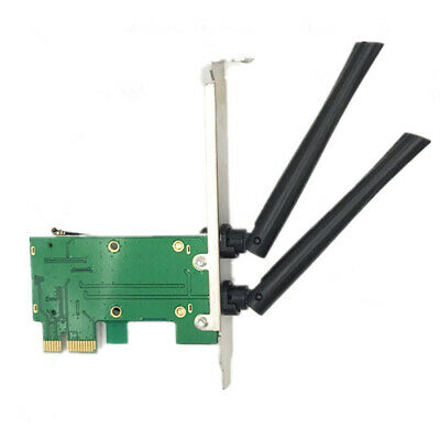 Chic Wireless Network Card WiFi PCIE Express to PCI-E Adapter 2 Antenna
