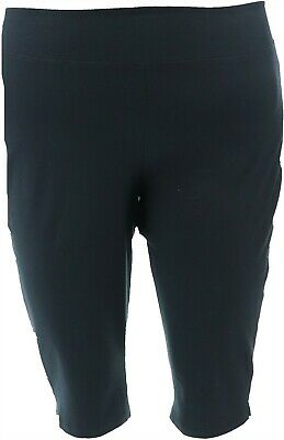 Wicked Women Control Petite Pedal Pusher Side Slits Onyx P2X NEW A352759