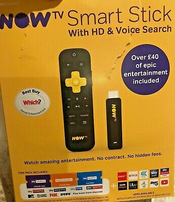 NOW TV Smart Stick With HD & Voice Search