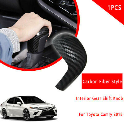 For TOYOTA CAMRY 18-19 Carbon Fiber Style Interior Gear Shift Knob Cover Deco k