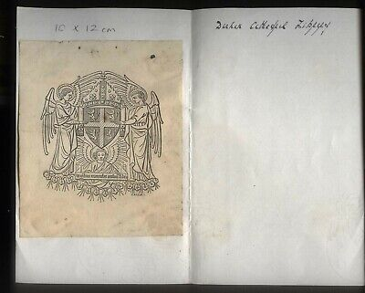 19th - 20th Century ex-Libris Book Plate - DURHAM CATHEDRAL LIBRARY