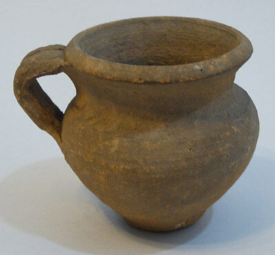Neolithic Pottery Vessel with Museum Sticker on Base