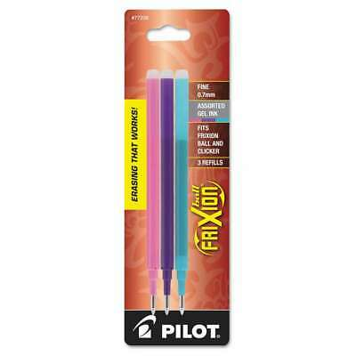 Pilot® Refill for FriXion Erasable Gel Ink Pen, Assorted, 3/Pk 072838773364