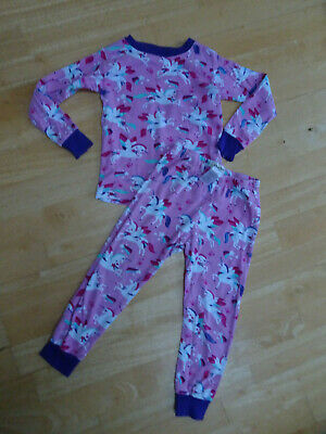 HATLEY girls pink unicorn pyjamas 2 piece AGE 4 YEARS EXCELLENT COND