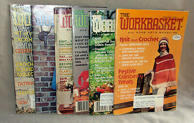 LOT 6 Workbasket Craft magazine Feb & Nov 1977 Jun 1981 Oct 1972 & 1987 Nov 1973