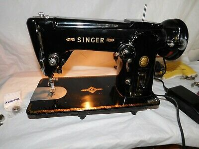 vintage Singer sewing sew machine 306M 306K antique runs SWEET! working works