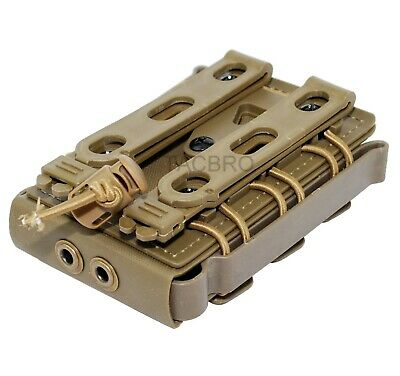 Tan MOLLE System 5.56 7.62 Magazine Pouch Soft Rifle Shell Mag Carrier
