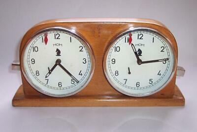 Vintage ANALOGUE 1950s MOM Hungarian CHESS TIMER CLOCK  Manual Winding WORKING