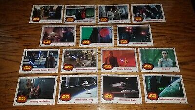 2017 Topps Journey To STAR WARS The Last Jedi WHITE Parallel lot (15 different)