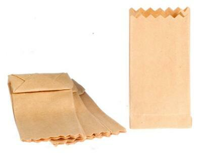 Dollhouse Miniature Large Paper Bag Set of 4 Great for Store or Market ~ IM65207