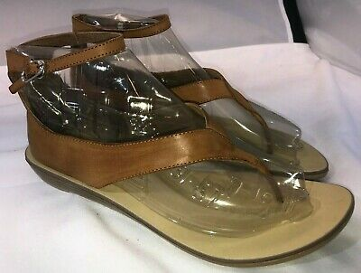 LADIES LEATHER COLLECTION FLAT TOE POST CASUAL SUMMER MULES SANDALS SIZE F0R930