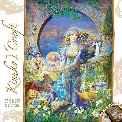 550-Piece 60604 MasterPieces Glitter and Glow Wind in Stone Jigsaw Puzzle