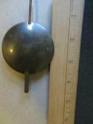 "Clock Brass Front  Pendulum  2.5"" Bob  4.5"" Long Weight  7 oz /  205 Grams"