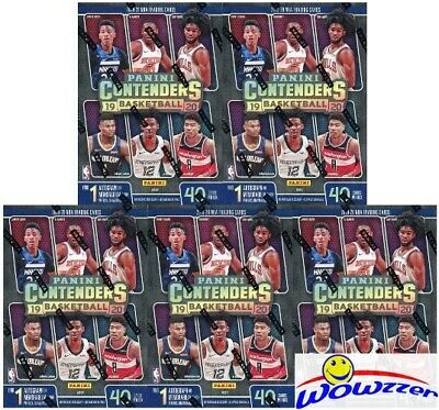 (5) 2019/20 Panini CONTENDERS Basketball EXCLUSIVE Sealed Blaster Box-5 AUTO/MEM