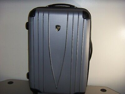 Silver Heys Brand Hardside Suitcase With Wheels & Expandable Handle
