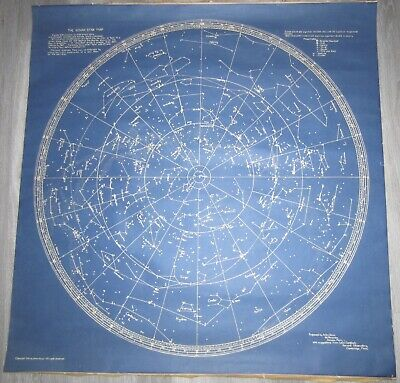 Anton Kovar Star Map 1936 Harvard Vintage Original Science Space Astrology Rare