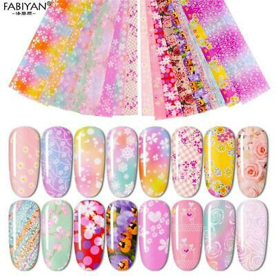 Adhesive Flower Holographic Nail Art Transfer Sticker Nail Foil Transfer Decal
