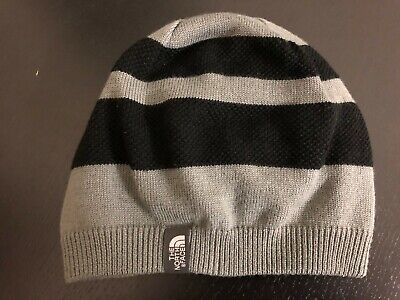 Reversible The North Face beanie hat, One Size,black/gray