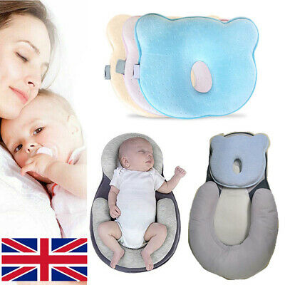 Newborn Infant Baby Pillow Cushion Prevent Flat Head Sleep Nest Pod Anti Roll UK