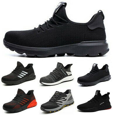 Mens Womens Ladies Safety Shoes Steel Toe Cap Trainers Work Boots Hiking Shoes